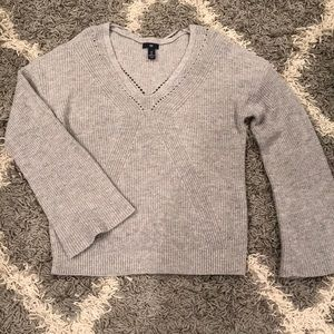 Ladies Gap Gray Sweater L